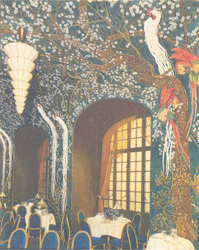 Murals for a roof garden dining room, Saint Regis Hotel, New York City. 1927-1928.