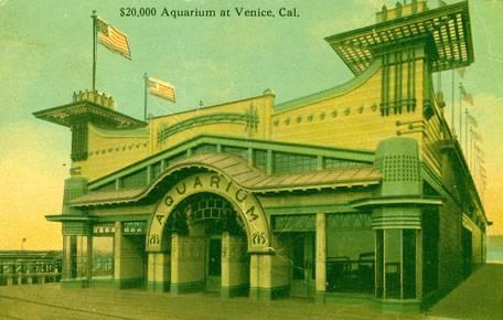 """""""$20,000. Aquarium at Venice, California."""" 1909 postcard."""