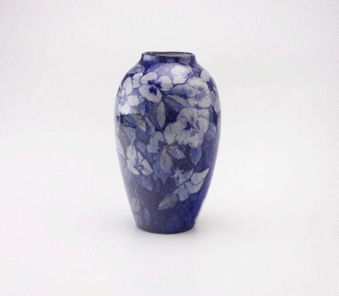 Vase with pansy design. 1907.
