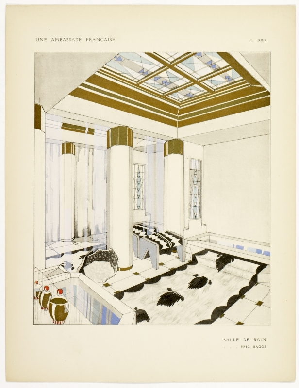 """""""Salle de Bain."""" Plate 29. Page 34."""