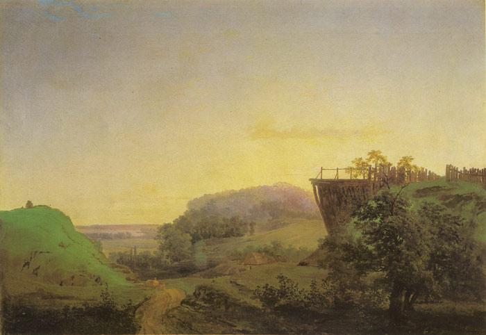 """Ukrainian Landscape."" 1850."