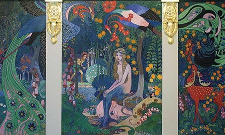 """""""Melusine"""" triptych. ca. 1910."""