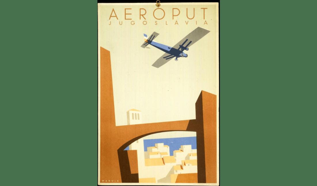 Advertisement for Aeroput, Jugoslavia.