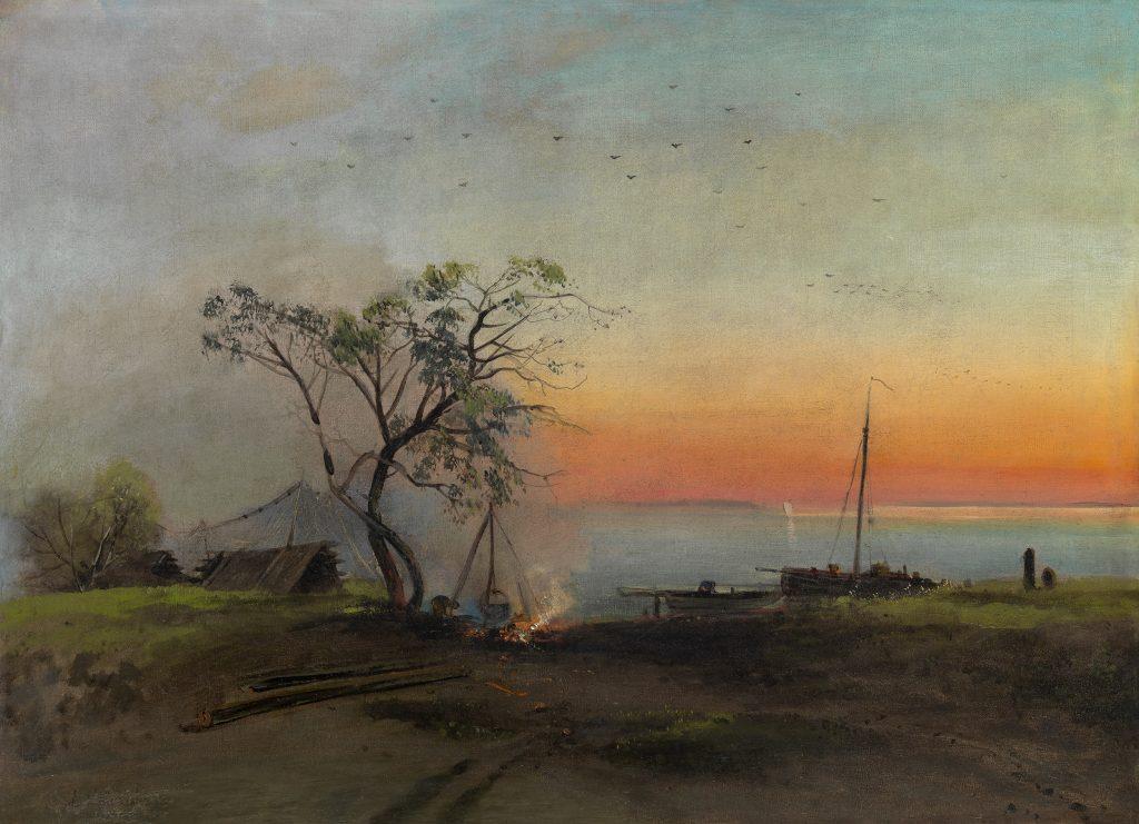 """Fishermen on the Volga."" Undated."