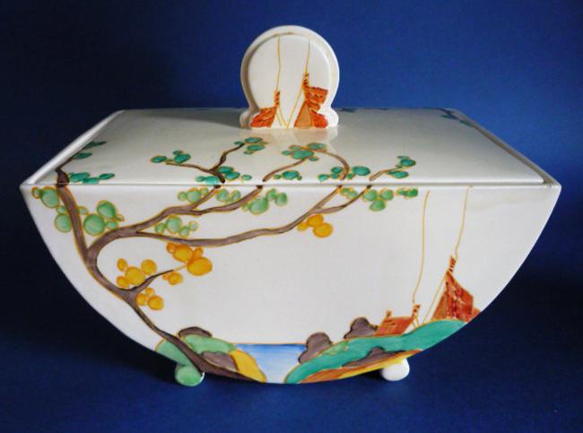 """Biarritz"" pattern tureen or biscuit tin. ca. 1934."