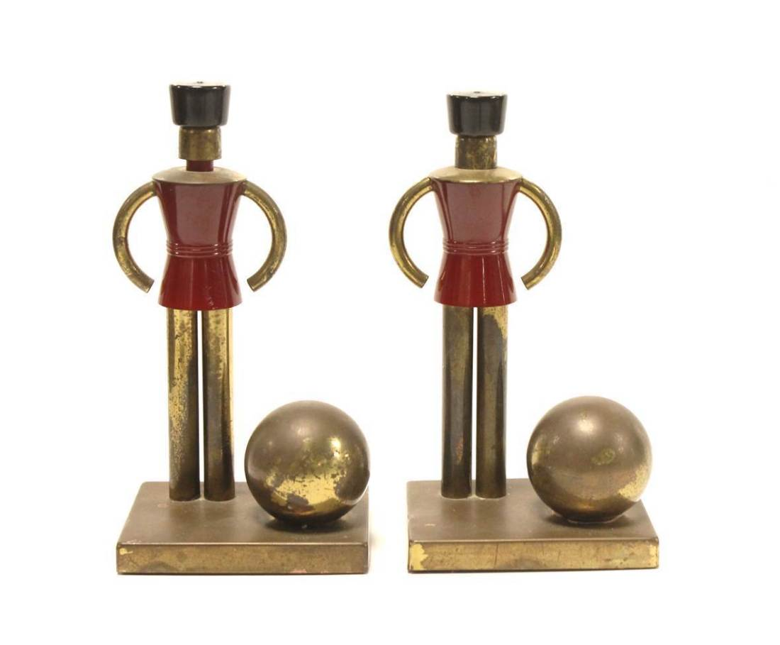 Toy soldier bookends. Undated.
