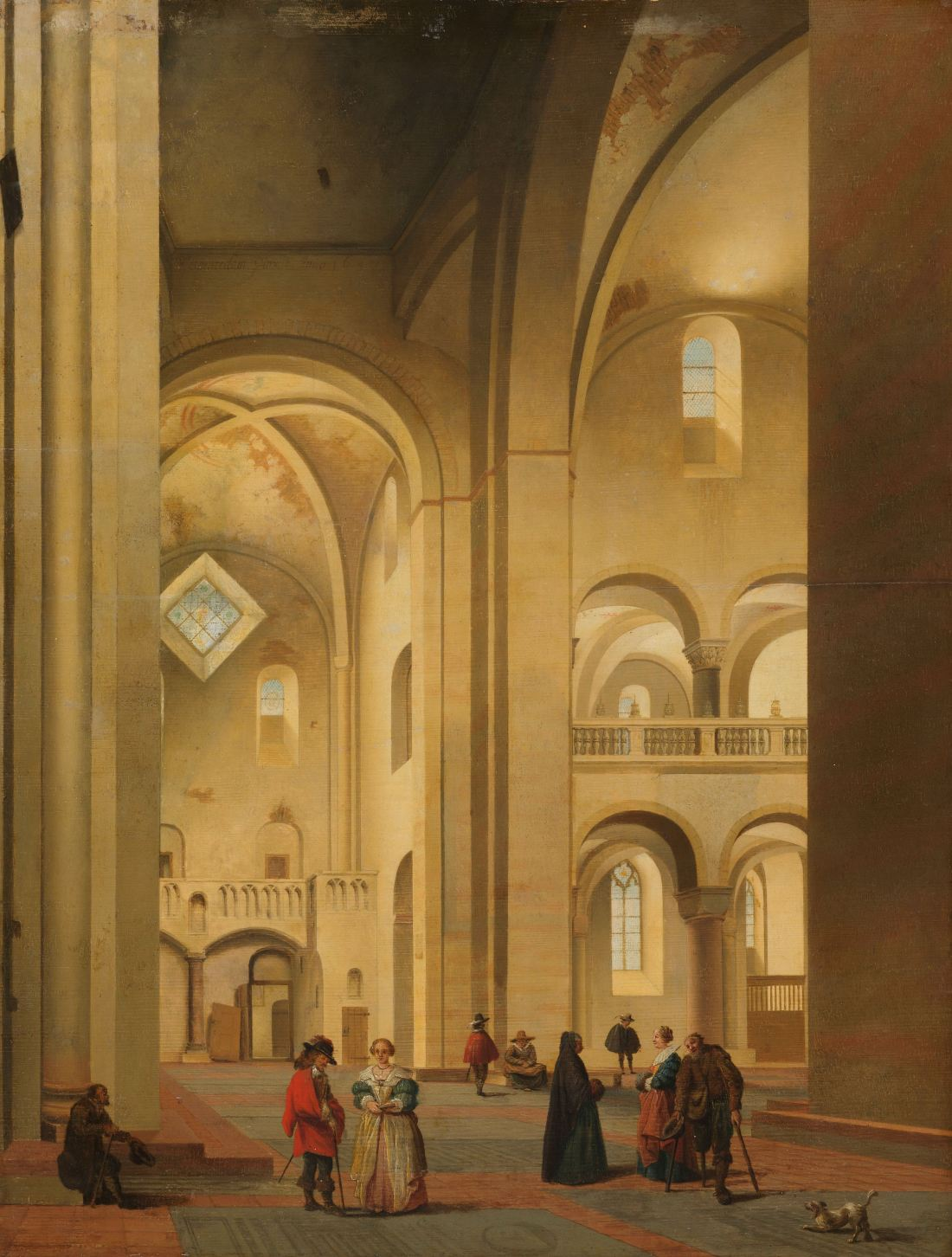 """The Transept of the Mariakerk in Utrecht, seen from the Northeast."" 1637."