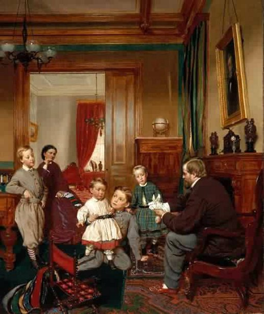 """""""The Colgate Family."""" 1866."""