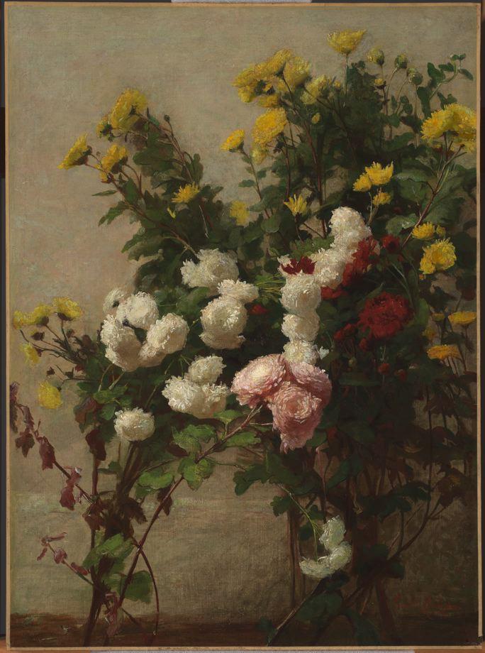 """""""Flower Study"""" (Wildflowers). 1877."""