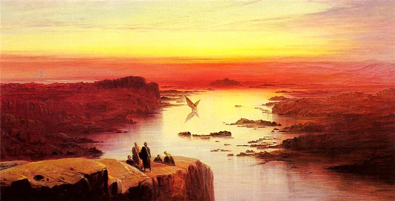 """""""A view of the Nile above Aswan."""" 1873."""