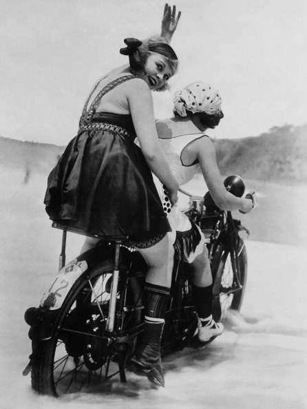 Motorcycle club members. Santa Monica, California. 1920.