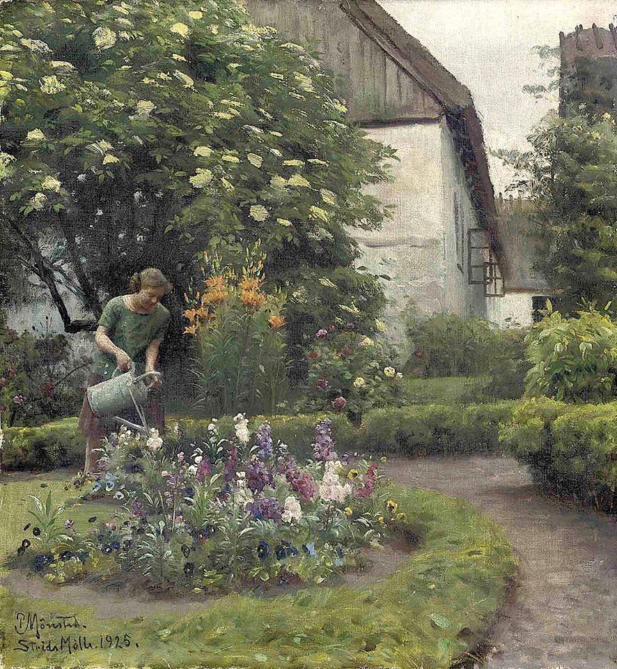 """""""Watering the Garden."""" 1920."""