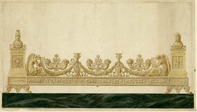 Design for a surtout de table (centerpiece).