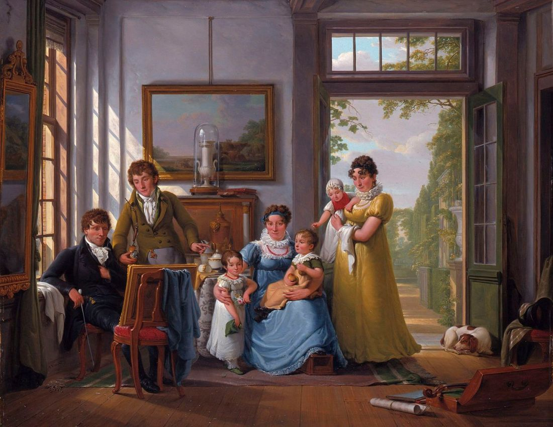 """Hendrik Weymans and family."" 1816."
