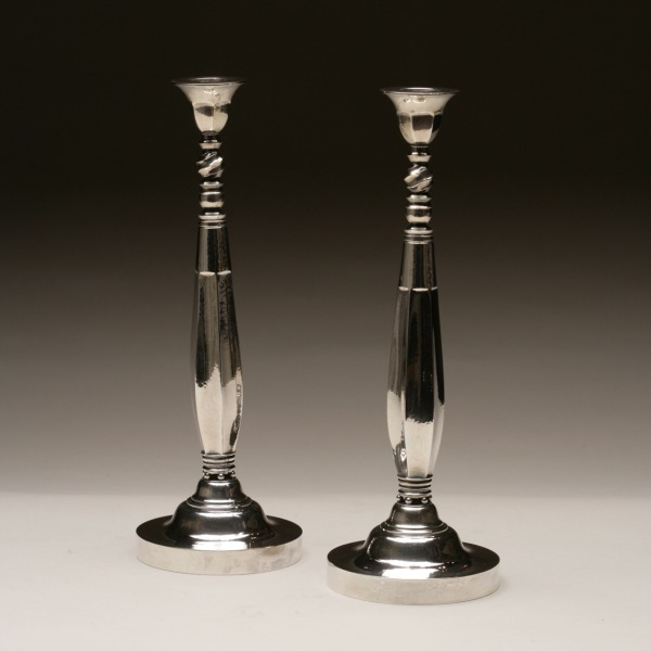 Sterling silver candlesticks #441.