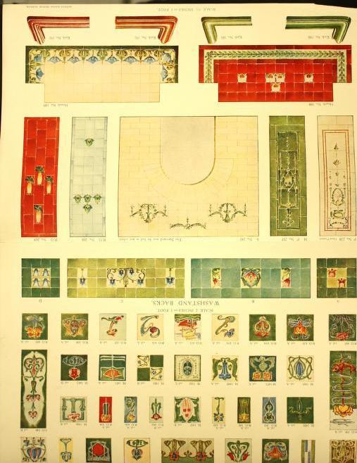 Designs for ceramic mosaic pavements suitable for entrances, halls, vestibules, etc. Page 74. Plate 83.