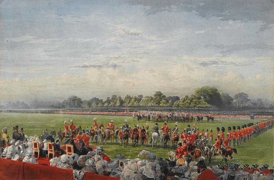 """""""The Queen distributing the first Victoria Crosses in Hyde Park, 26th June 1857 ."""""""