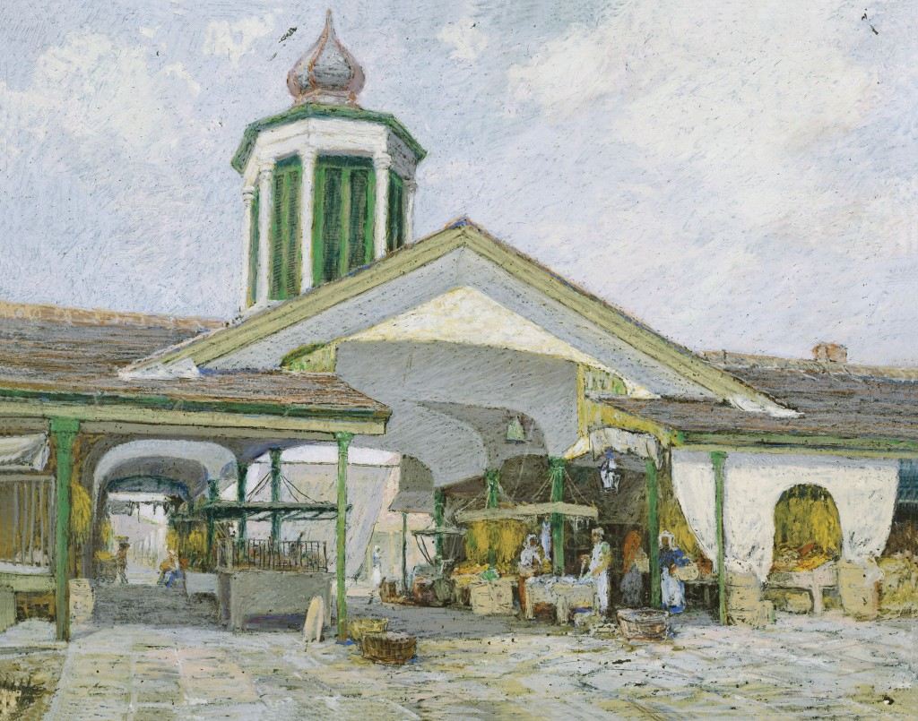 """""""Poydras Market about 1890."""" Undated."""