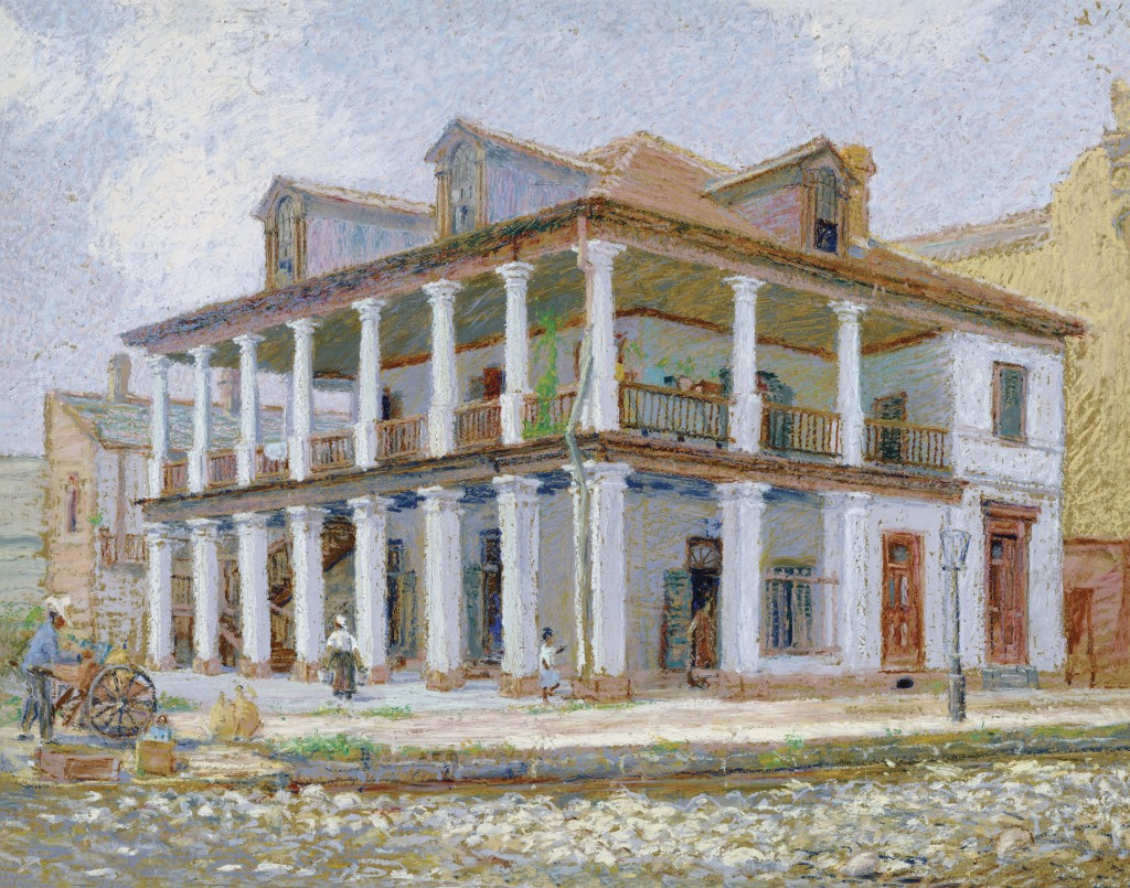 """Old Delard Plantation House."" Undated."