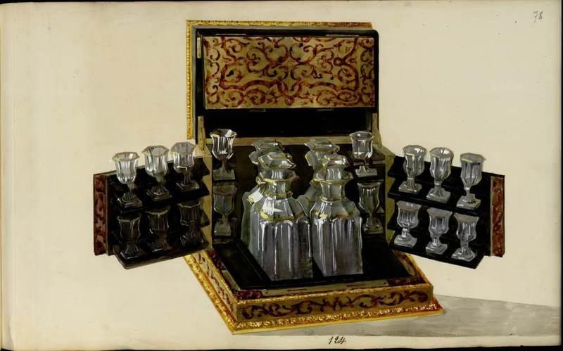 """""""Cave à liqueur."""" 1852-1870."""