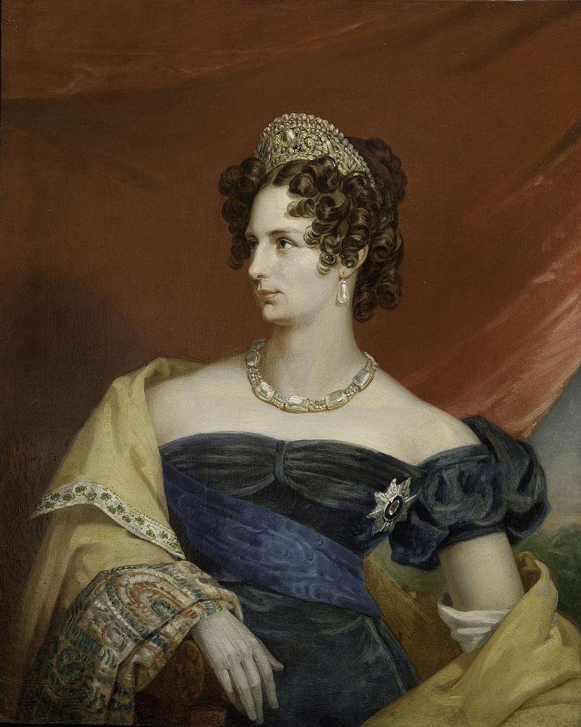 Tsarina Alexandra Feodorovna, wife of Tsar Nicholas I. 1820's.