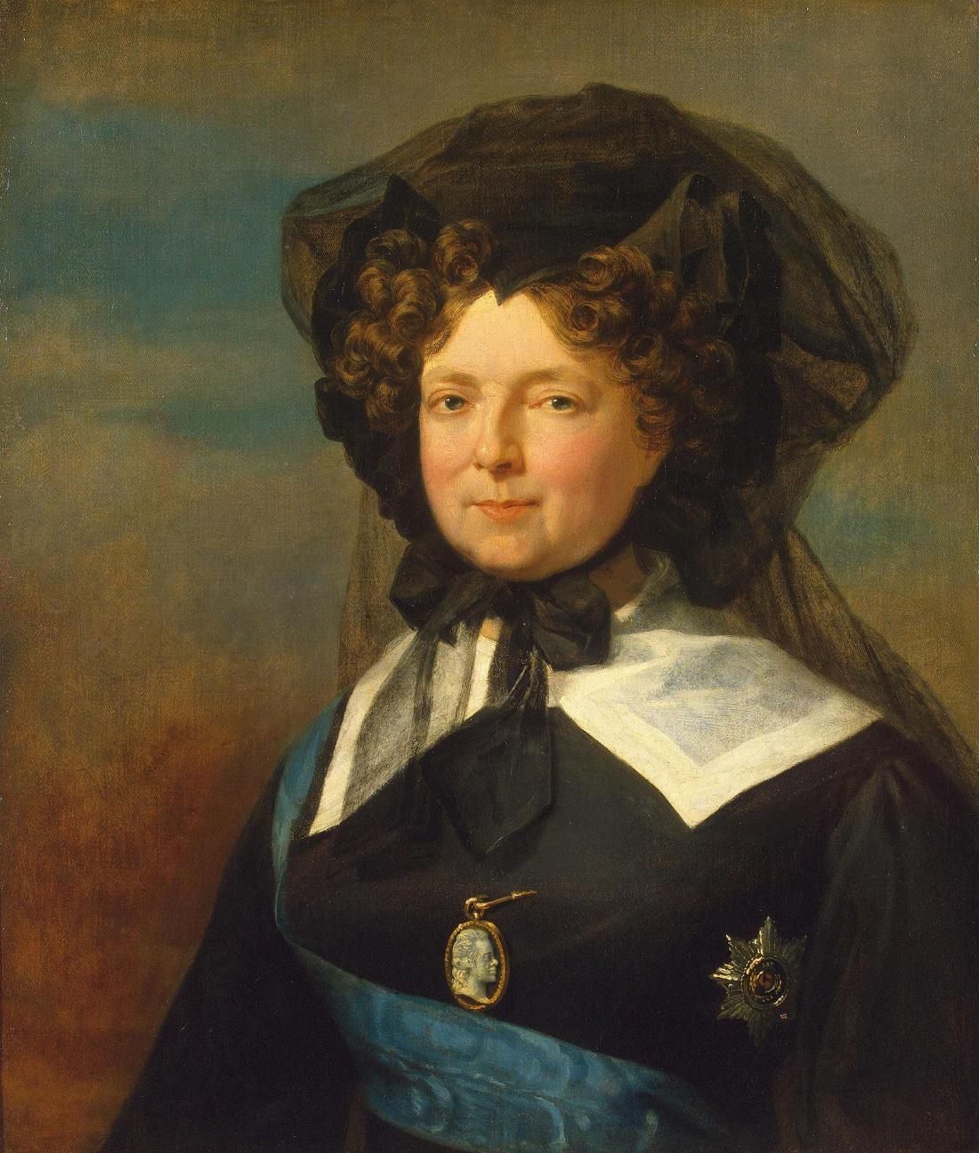 Tsaritsa Marie Feodorovna, widow of Paul I. 1825.
