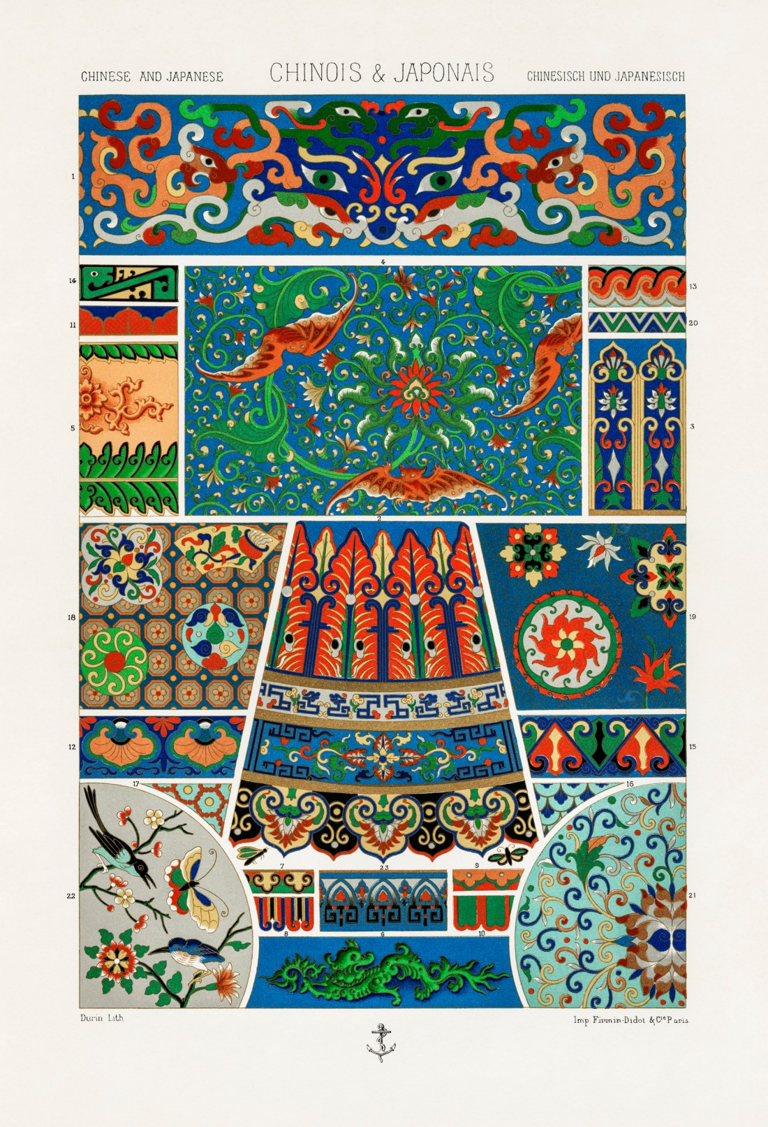 Chinese and Japanese pattern from L'ornement Polychrome (188