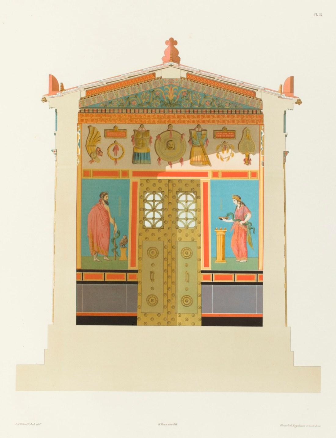 """""""Coupe transversale du temple."""" 1846."""