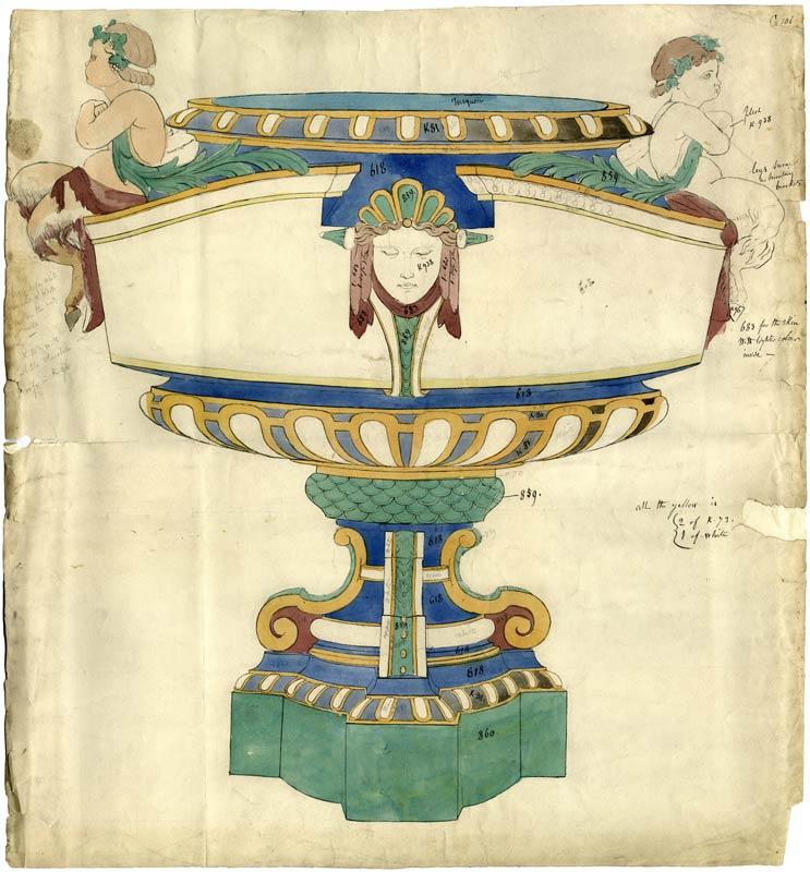 Art Nouveau design with putti.