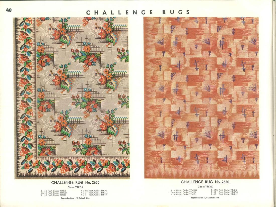 Challenge rugs. Page 48.