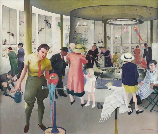 """Tropical Bird House, Dudley Zoo."" ca. 1939."