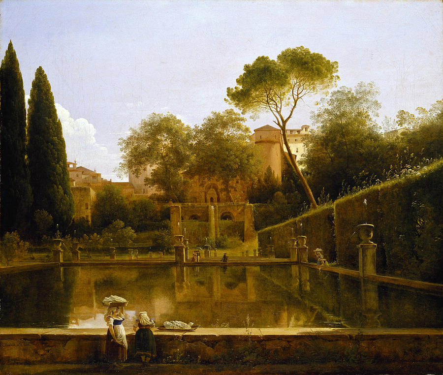 """View of the gardens of the Villa d'Este. Tivoli."" No date."
