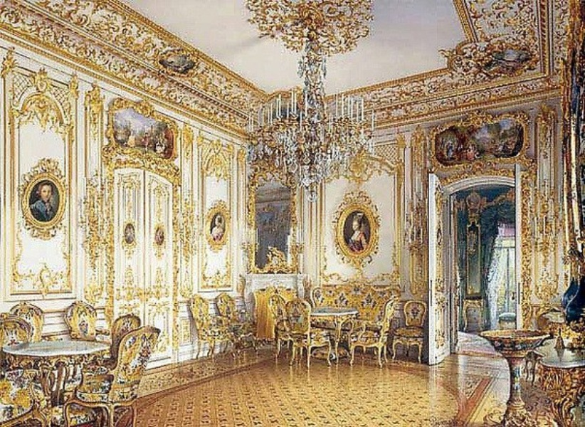 Interior, Peterhof dacha. 19th c.