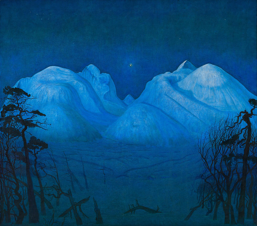 """""""Winter Night in the Mountains."""" 1914."""
