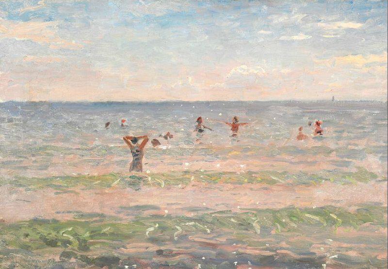 """""""Swimming and bathing at Skagen Sønderstrand."""""""
