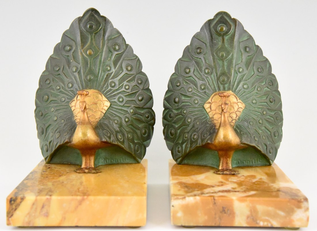 Peacock bookends. 1925.