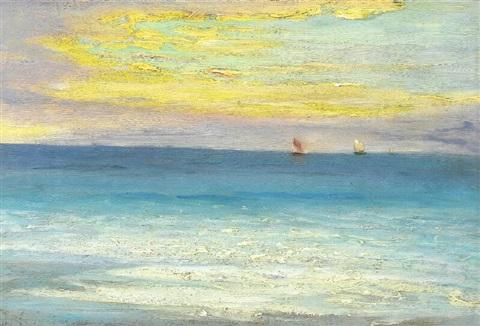"""""""Evening light, Skagen."""" Early 20th c."""