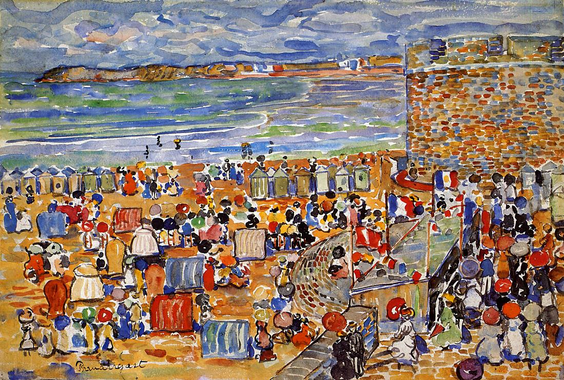 """On the Beach Saint Malo."" 1907."