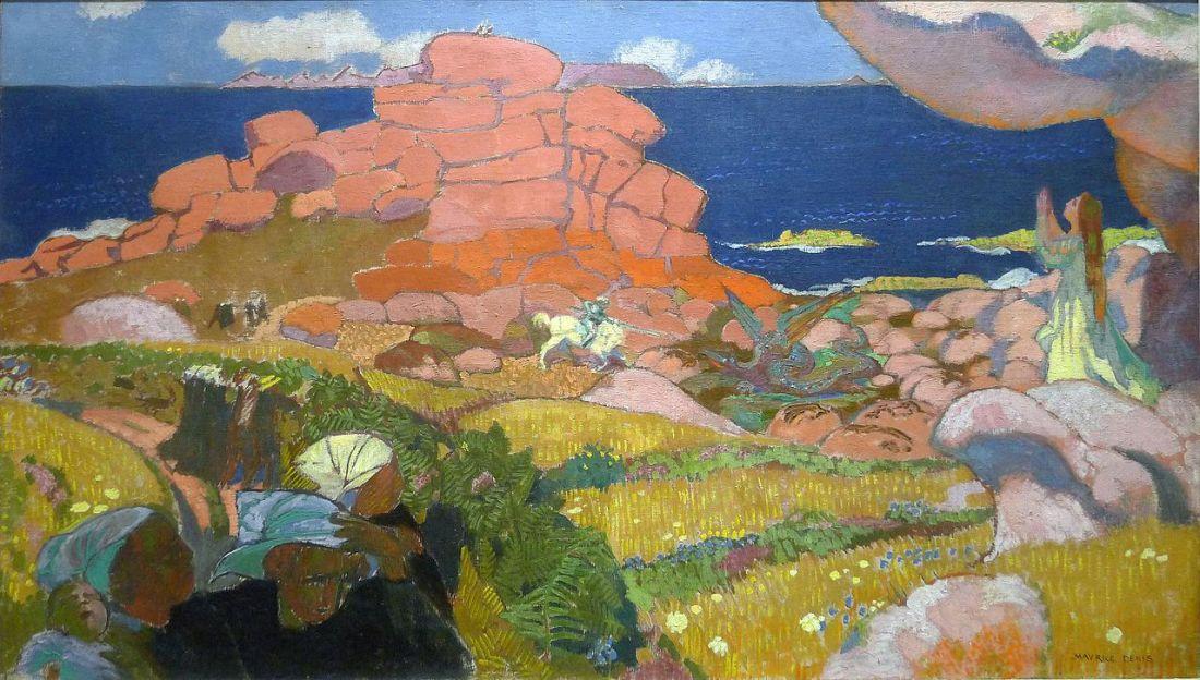 """""""Saint Georges aux rochers rouges."""" 1910."""