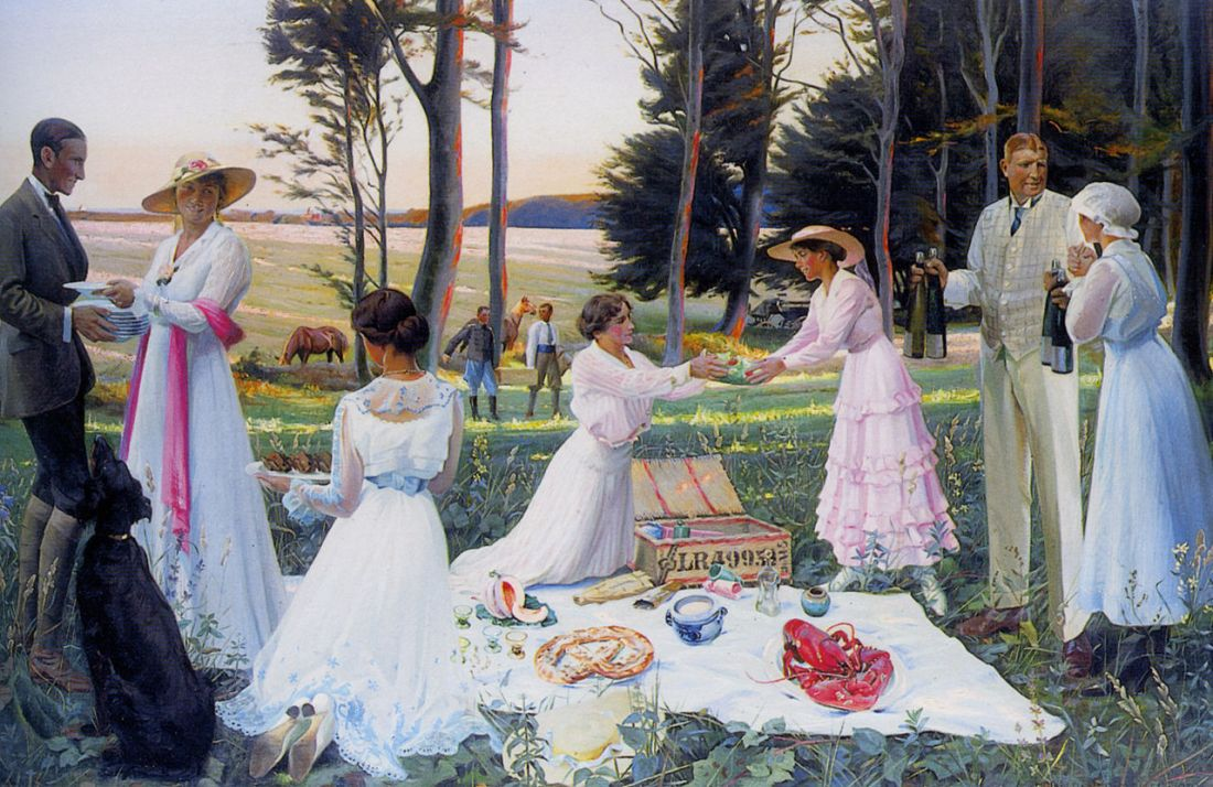 """""""The Afternoon Picnic."""" 1919."""