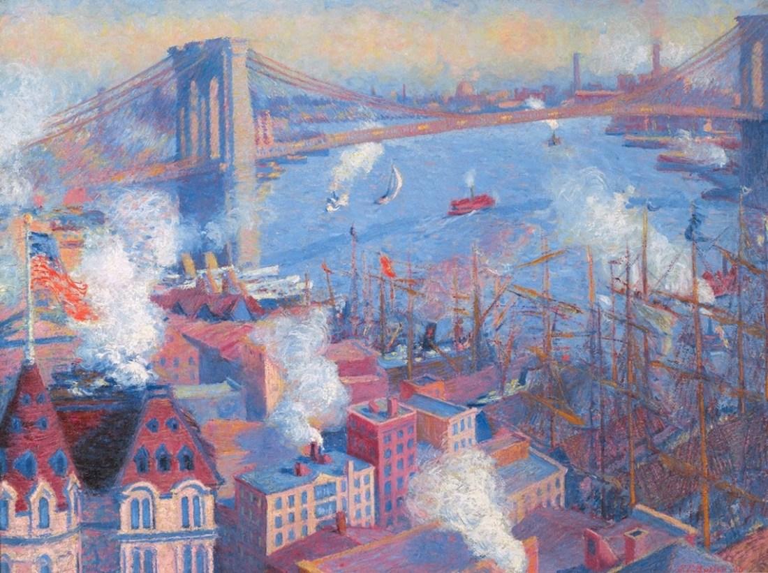 """Brooklyn Bridge."" 1900."