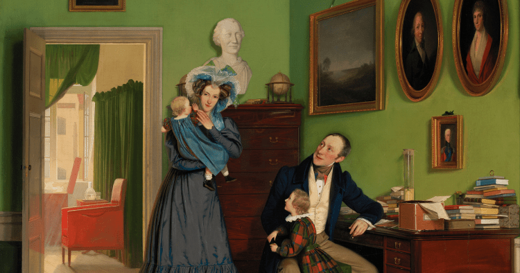 Portrait of the Waagepetersen family. 1830.