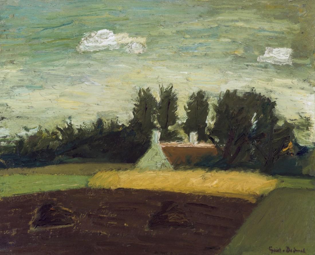 """Farm and corn field."" ca. 1942."