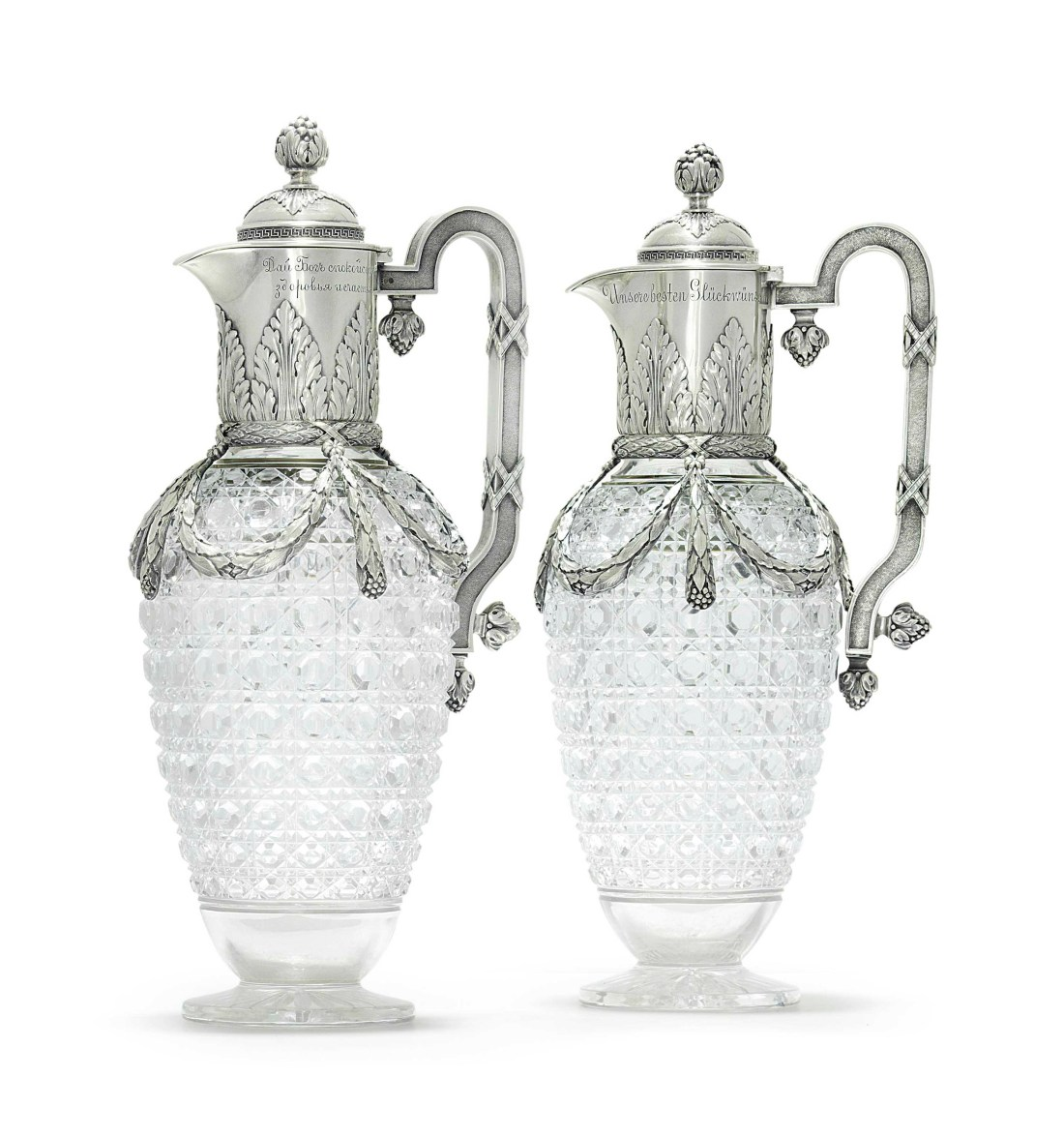Pair of decanters. 1899-1908.
