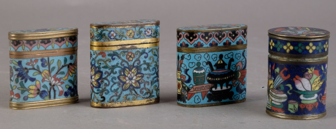 Opium boxes. 18th and 19th c.