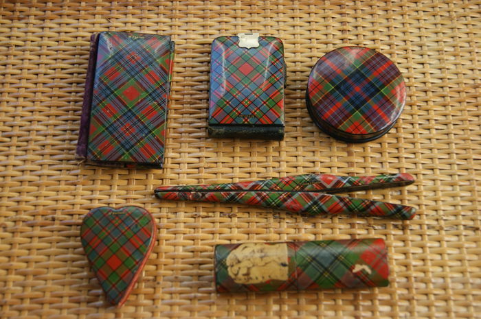McFarlane tartan ware sewing kit.