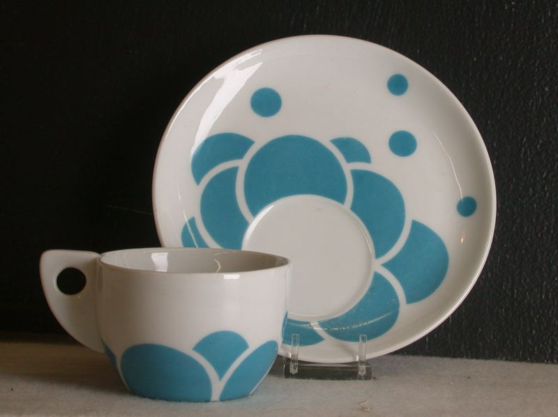 Light blue cup and saucer. 1901-1902.