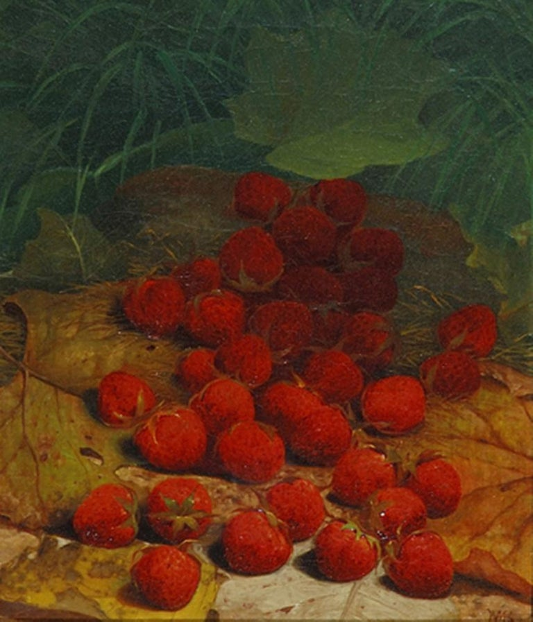 """""""Strawberries Strewn on a Forest Floor."""" ca. 1865-1870."""