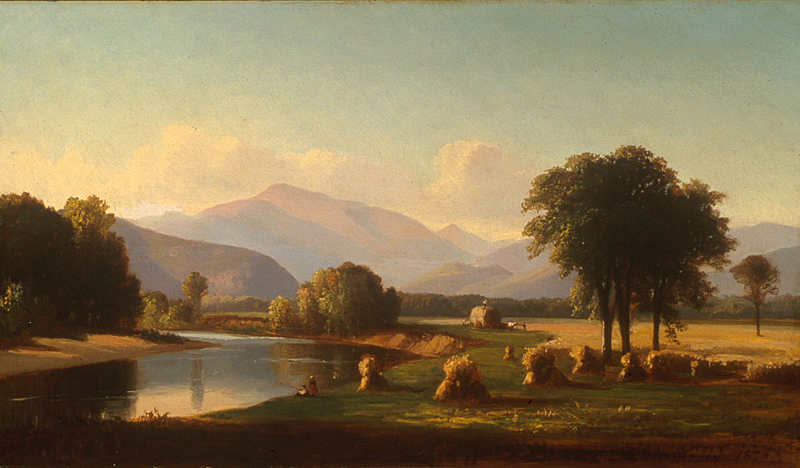 """""""Harvest Scene, Conway Valley.""""1870. Oil on canvas."""