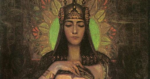 """""""Cleopatra/Fantaisie Egyptienne"""" (detail). 1898."""